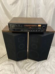 Magnavox Stereo System Am/fm Phono Pair Tricustic Speakers