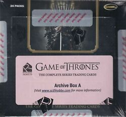2020 Game Of Thrones The Complete Series Factory Sealed Archive Boxes A And B