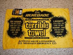 Pittsburgh Steelers Terrible Towel Styx Renegade Terrible Towel With Tag