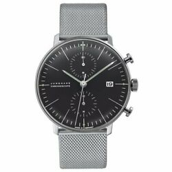 Junghans Max Bill 027/4601.00m Automatic Black Dial Stainless Menand039s
