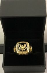 Danbury Mint Size 11.5 Us Army Military Ring 12 Real Diamonds Engrave Ready