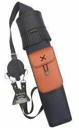 Traditional Black Finished Leather Back Side Arrow Quiver Aq-122a