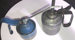 Lot Of 2 Vintage Oil Cans Including One Plews Can