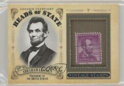 2020 Upper Deck Goodwin Champions Heads Of State Stamp Relics Abraham Lincoln