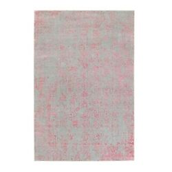6and039x9and039 Pink Wool And Art Silk Transitional Design Hand Loomed Jacquard Rug R58600