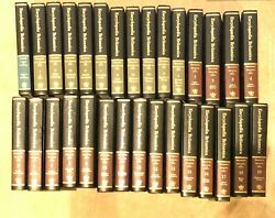 The New Encyclopedia Britannica 15th Ed 30 Vol Complete Set Padded Leather '78