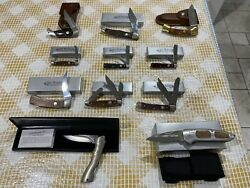 Boker Knife Collection Lot Of 11 Knives New And Rare Discontinued Models