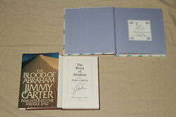 Signed President Jimmy Carter The Blood Of Abraham 1st Book + Lady Bird Johnson