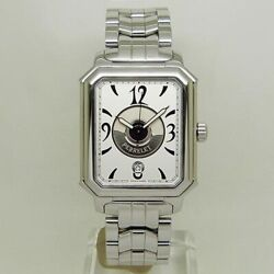 Perrelet Rectangle Royal Double Rotor Automatic White Dial Stainless Men's
