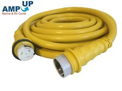 Amp Up 50a 125/250v X 50and039 Marine Shore Power Boat Cord Yellow 50 50 Volt Foot Ft