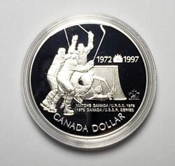 Canada 1997 Hockey .925 Sterling Silver 1.00 One Dollar Coin Proof