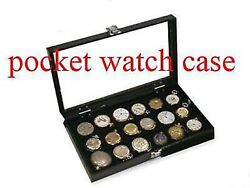 18 Watch Show Case Display Antique Jewelry Supply Box For Pocket Watches