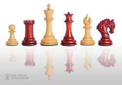 The Salerno Luxury Chess Set - Pieces Only - 4.4 King - Blood Rosewood