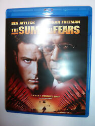 The Sum Of All Fears Blu-ray Spy Thriller Movie Terrorism Ben Affleck Jack Ryan