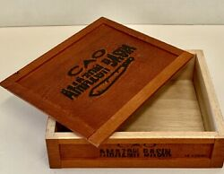 Cao Basin Empty Wooden Cigar Box Removable Lid Great Stash / Storage Nice