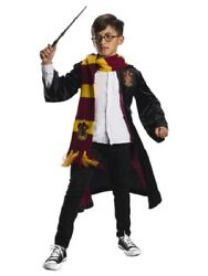 Harry Potter Deluxe Gryffindor Child Costume Kit -robe Scarf Glasses Wand- Large