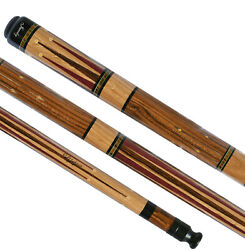 Custom Jacoby Pool Cue Jc111750 W/2 Shafts And Tulip Wood 1of1 New