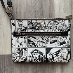 Nwt Coach 3578 Marvel Gallery Pouch Comic Book Print Limited Chalk Black 178