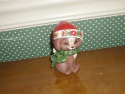 Jim Shore- Heartwood Creek-mini Christmas Puppy Figurine-new-2019