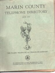 Large 1950 Marin County Telephone Directory With Many Nice Ads