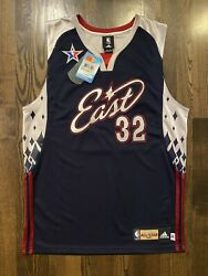 New Nwt Adidas Authentic Shaquille O'neal 2007 Nba All Star Jersey 40 Miami Heat