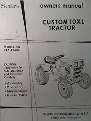 Sears Custom 10xl Lawn Garden Tractor Engine And Dozer Owner And Parts 3 Manual S