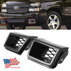 2pcs Front Bumper Air Vent Duct Grille Insert For Chevy Silverado 1500 2003-2007