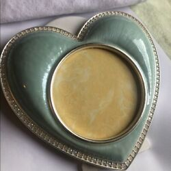 Jay Strongwater Chantal Pale Blue Heart Picture Frame