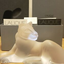 Lalique Simba Lioness French Art Glass Crystal Lion Figurine Sculpture Nib