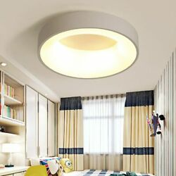 Round Modern Led Ceiling Lights Living Room Bedroom Study Room Dimmable Rc Lamp