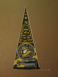 Nhl Pittsburgh Penguins Vintage 1991 Stanley Cup Champions Trophy Pennant