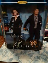 1998 The X-files Barbie And Ken Doll Set Mulder And Scully Collector Ed 19630