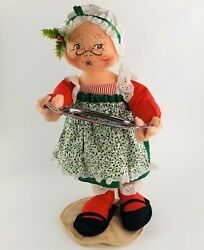 Vintage Annalee Doll Mrs. Claus W/ Tray 5512 Christmas 17