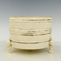 6.1 Exquisite Chinese Old Antique Ding Kiln Porcelain Mark Three Legs Pot