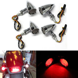 4x Motorcycle Led Turn Signal Lights For Harley Davidson Sportster 1200 883 Iron