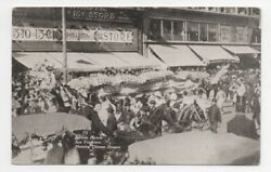1909 Postcard Of The Portola Parade San Francisco With Chinese Dragon Float