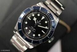 Tudor Menand039s Stainless Steel Mechanical Blue Watch