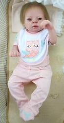 22and039and039 Reborn Baby Girl Washable Anatomically Correct Full Soft Silicone Doll Toy
