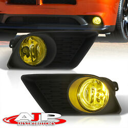 Yellow Bumper Driving Fog Lights Pair Left +right For 2011-2014 Dodge Charger Ld