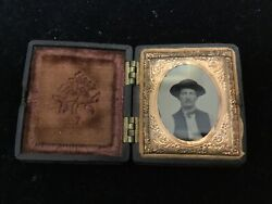 Union Case With Ambrotype Of Young Man-may Be Civil War Soldier-confederate