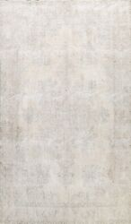 Muted Semi Antique Handmade Evenly Low Pile Traditional Distressed Area Rug 9x13