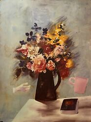 Charles Blackman The Bouquet Large Signed Limited Edition Print 100cm X 75cm