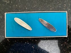 Vintage Lullaby Sterling Silver 1946 Baby Diaper Pin Set W/ Original Box