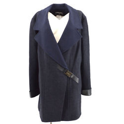 00a 46 Double Breasted Long Sleeve Coat Jacket Gray Authentic 31510