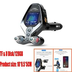 Bluetooth Car Fm Transmitter Mp3 Player Hands Free Radio Kit Qc3.0 Fast Charger