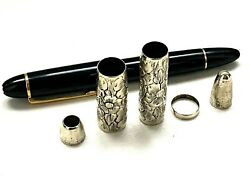 Mont Blanc 149 Customized Coin Silver Repousse Overlay Cm
