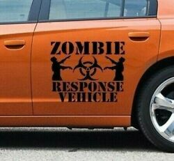 Zombie Apocalypse Response Vehicle Decal X2 Stickers Truck Decal Car Graphics