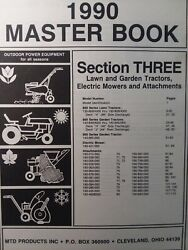 Mtd 1990 Lawn Garden Tractor, Implements And Electric Mower Master Parts Manual