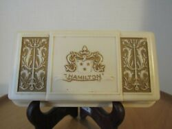 Celluloid Watch Box Embossed Lyre Design Hamilton Watch Company Usa