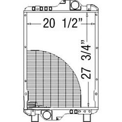 211056 Fits Case/ih Tractor Radiator - 27 3/4 X 21 1/4 X 5 Fits New Holland